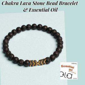 Chakra Lava Stone Bead Bracelet Essential Oil